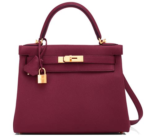 Fashion Bag Hermes hermes bag 28cm bordeaux togo gold hardware world