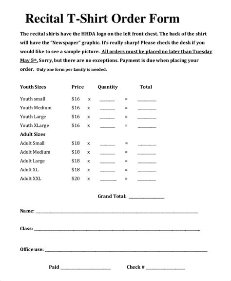 shirt order form template t shirt order sheet pictures to pin on pinsdaddy