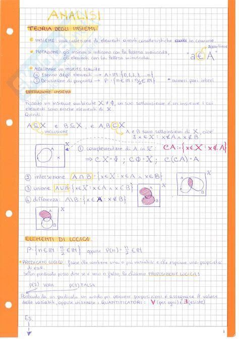 dispense analisi 1 analisi matematica 1 formulario sintetico