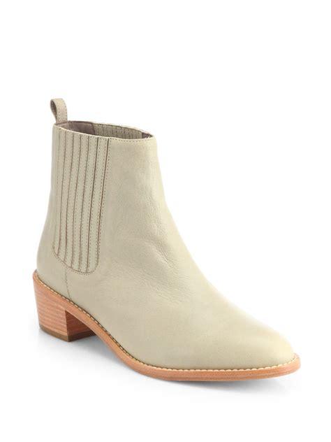 loeffler randall boots loeffler randall fitz leather chelsea boots in beige