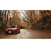Trees Forest Cars Roads Red Alpina Foliage BMW