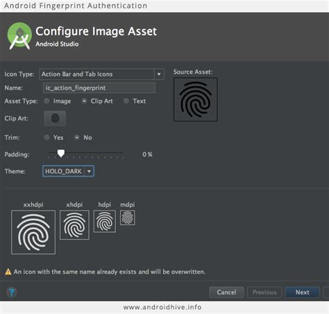 android fingerprint fingerprint android tutorial