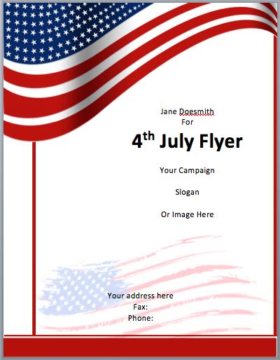 Free Flyer Template Word Template Business Free American Flag Flyer Template