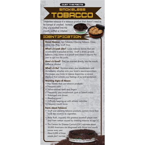Tobacco Rack by Just The Facts Tobacco Rack Cards Smokeless Tobacco