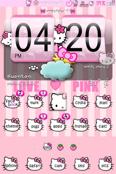 themes hello kitty c3 hello kitty theme iphone www pixshark com images