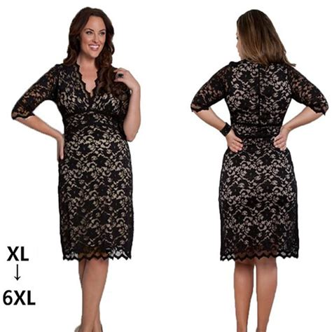 Big Size Lace Dress M 6xl 6xl s plus size lace dresses new fashion