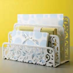 Letter Rack Organiser by Design Ideas Vinea Letter Holder White Desk Organizer