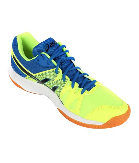 sport shoes asics asics yellow indoor sport shoes gel upcourt price in