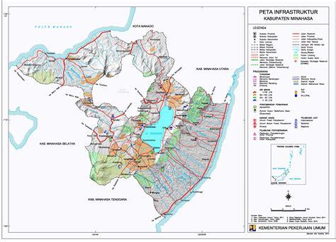 Minahasa Negeri Rakyat Dan Budayanya peta kota peta kabupaten minahasa