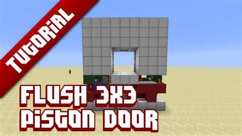 How To Make A 3x3 Piston Door flush 3x3 piston door tutorial minecraft