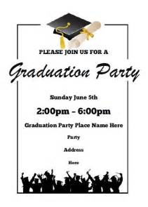 Graduation Invitation Templates Free Word by Graduation Invitations Free Printable