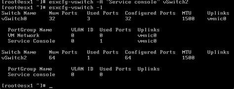 uplink console commands esxstuff basic esx network commands