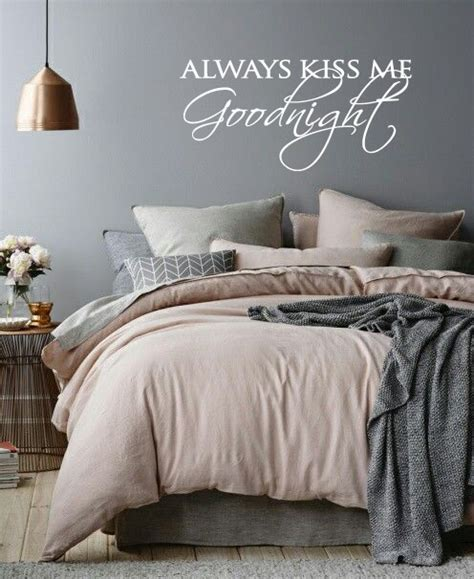 muursticker always kiss me goodnight walldesign56 com