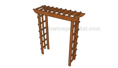 trellis plans free garden arbor plans free howtospecialist how to build step by step diy plans