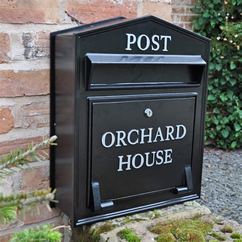 post box design for house the regency slimline wall mounted post box personalised