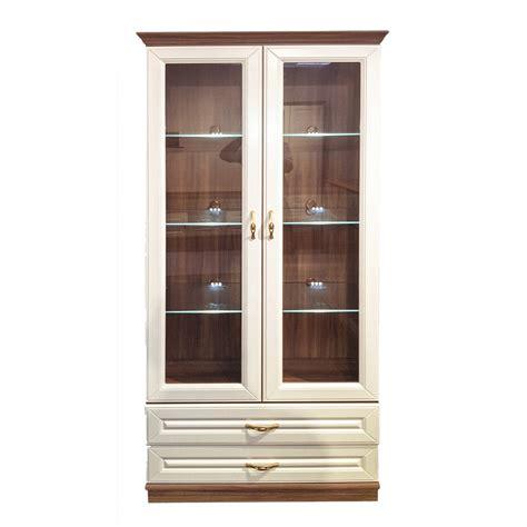 schrank wohnzimmer vitrine schrank wohnzimmer wei 223 und walnuss inkl