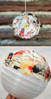 vintage home decor on a budget diy upcycled vintage magazine paper lantern click pic for 25 diy home decor ideas on a budget