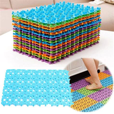 anti skid mats for bathrooms colorful splicing anti slip mat bathroom massage strong suction plastic carpet alex nld