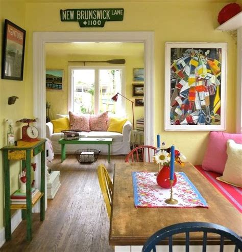 home design with yellow walls small california beach cottage in red blue and yellow