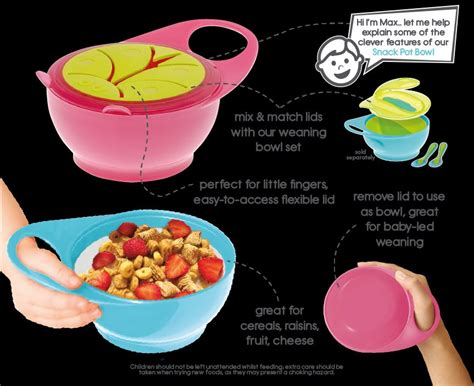 Max Easy Hold Snack Pot Bowl max easy hold 2 in 1 snack pot bowl at 163 4 74