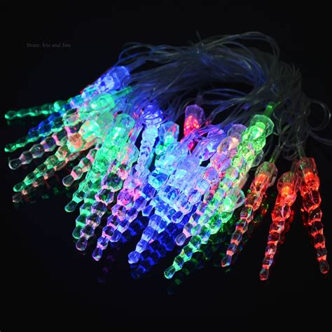 new arrival 5m 28 led christmas icicle shape string fairy