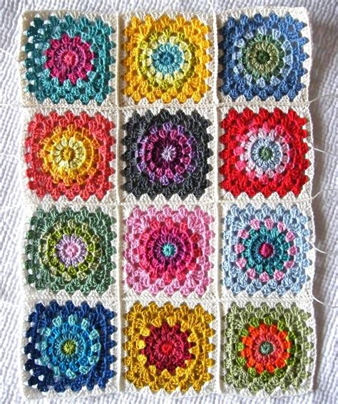 crochet granny square color wheel crochet squares