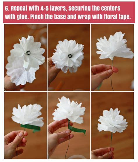 How To Make Paper Flowers Out Of Coffee Filters - how to make paper flowers one lovely