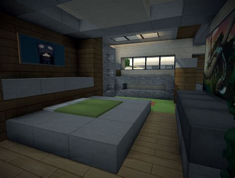 minecraft style bedroom modern villa minecraft project