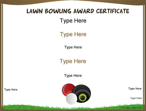 download lawn bowling award certificate for free formxls
