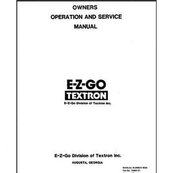 e z go marathon service manual fits 1989 1993