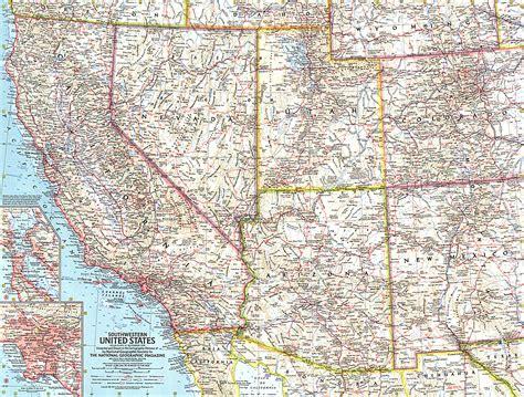 map of southwest usa southwestern united states map