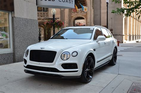 white gold bentley 2018 bentley bentayga black edition stock b959 s for