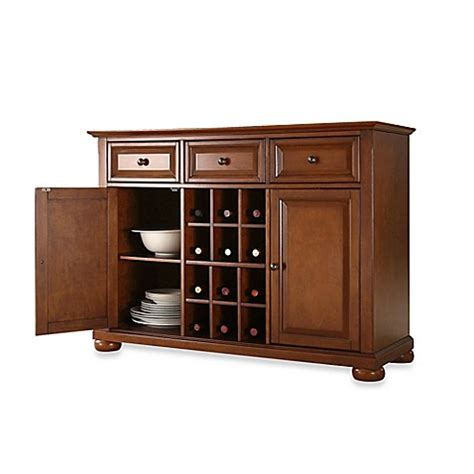 crosley alexandria buffet server sideboard cabinet bed
