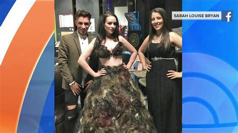 Dress Made From Human Hair Would You Wear It by See The Dress Made Of Human Hair