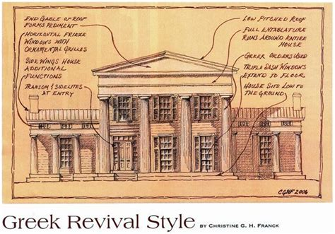 greek revival style greek revival style sketches pinterest