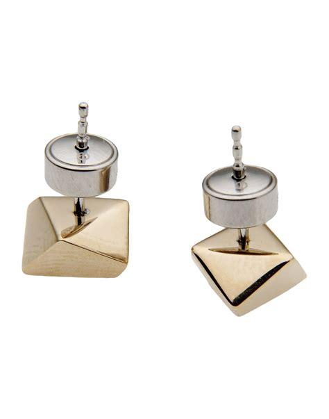 Metallic Earring lyst fossil earrings in metallic