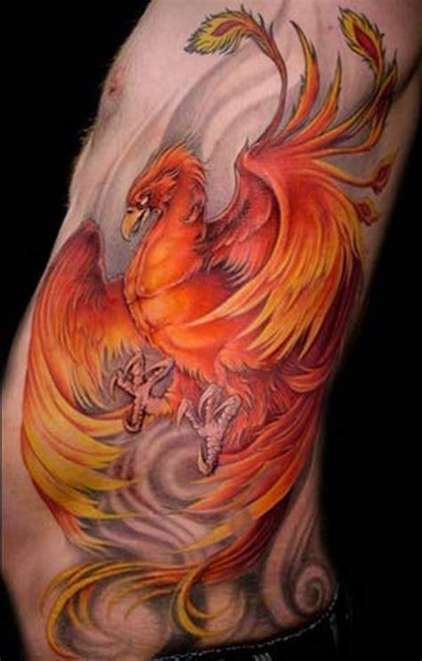 phoenix tattoo on side 55 phoenix bird tattoos and designs