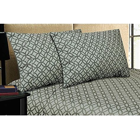 buy micro lush microfiber sheet set in grey from bed