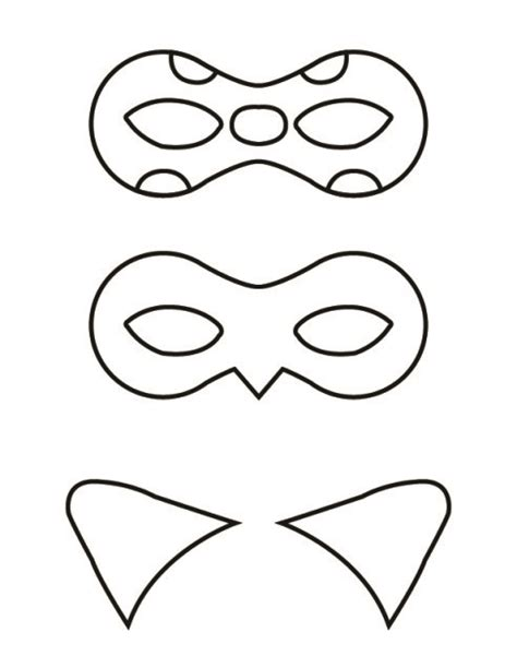 printable ladybird mask ladybug and cat noir masks free printable aulas de