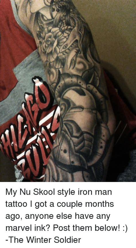 winter soldier tattoo my nu skool style iron i got a months