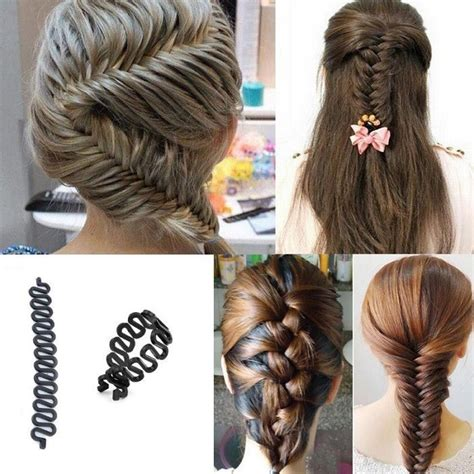 hair braided with roller outcome 2 pcs women lady french hair braiding tool braider roller