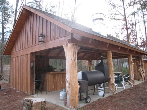 Blueprints For Garages by Rustic Cedar Log Pavilion Traditional Patio