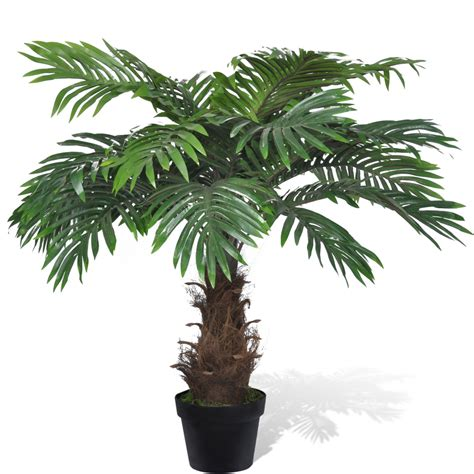 artificial palm tree vidaxl co uk lifelike artificial cycus palm tree with