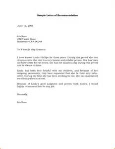 Business Format Letter Recommendation simple letter of recommendation sample servey template sample