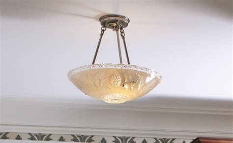 1940s kitchen light fixtures awesome glass bowl chandelier