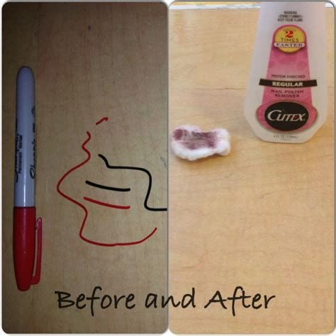 How To Get Sharpie Wood Table by 25 Best Ideas About Remove Permanent Marker On