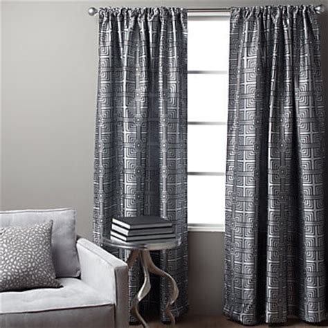 z gallerie drapes maze panel steel 96 quot modern curtains by z gallerie