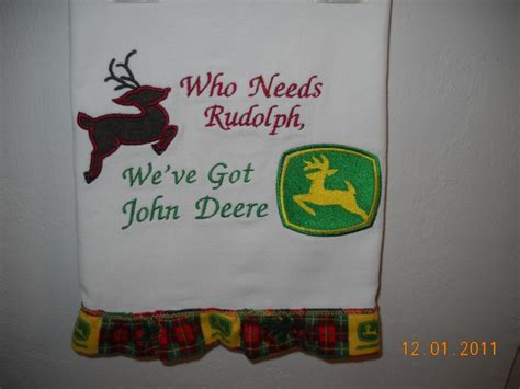 Tricia Lucus Also Search For Deere Embroidered Towels Nancy Allen S Embroidery Pinte