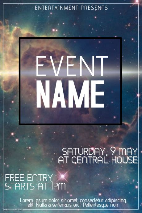 Galaxy Event Flyer Template Postermywall Event Flyer Template