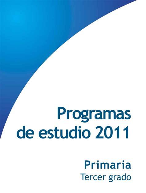 tercer grado primaria programa curricular programa de estudio 2011 guia para el maestro primaria